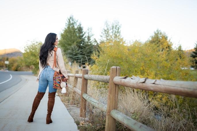 brown thigh high boots walnut stuart weitzman