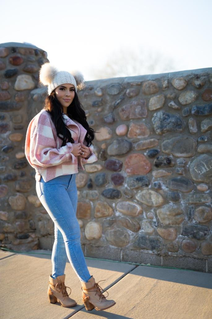 Winteroutfit jacket beanie ideas sale